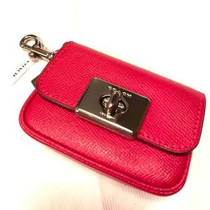 🔥NEW!🔥COACH Cassidy Mini Coin Case Purse Charm